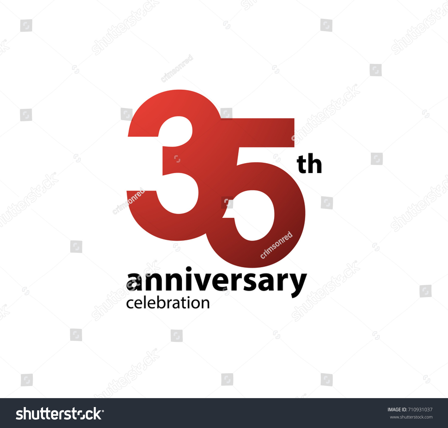 35th Anniversary Celebration Logotype Anniversary Logo Stock Vector ...