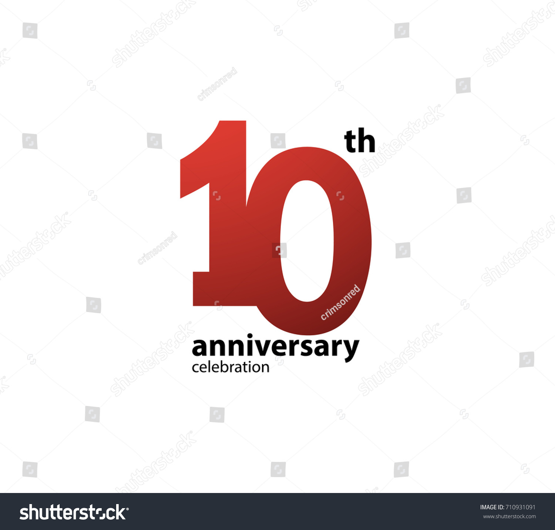 10th Anniversary Celebration Logotype Anniversary Logo Stock Vector ...