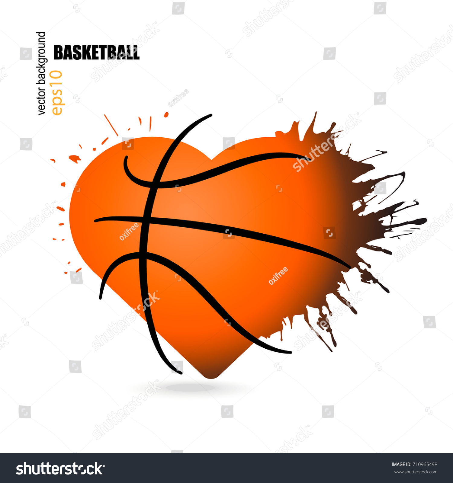 Vector object shape heart basketball handdrawing stock vector vector object in the shape of a heart for basketball hand drawing splashes biocorpaavc Choice Image