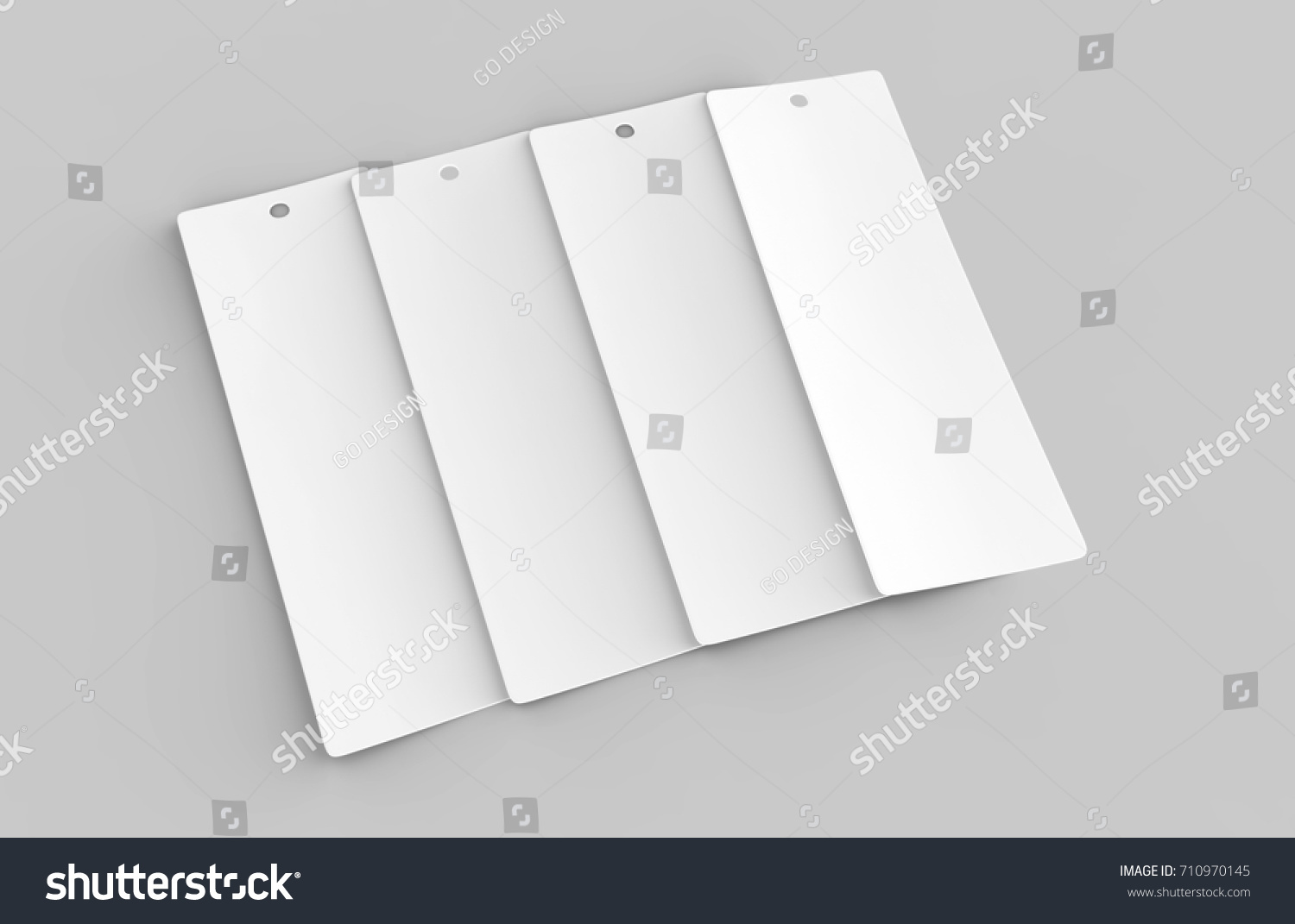 White Blank Tag Label Bookmark Bookmaker Stock Illustration ...