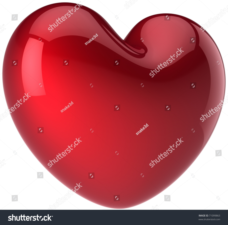 Love Heart Shape Symbol Romantic Feeling Stock Illustration