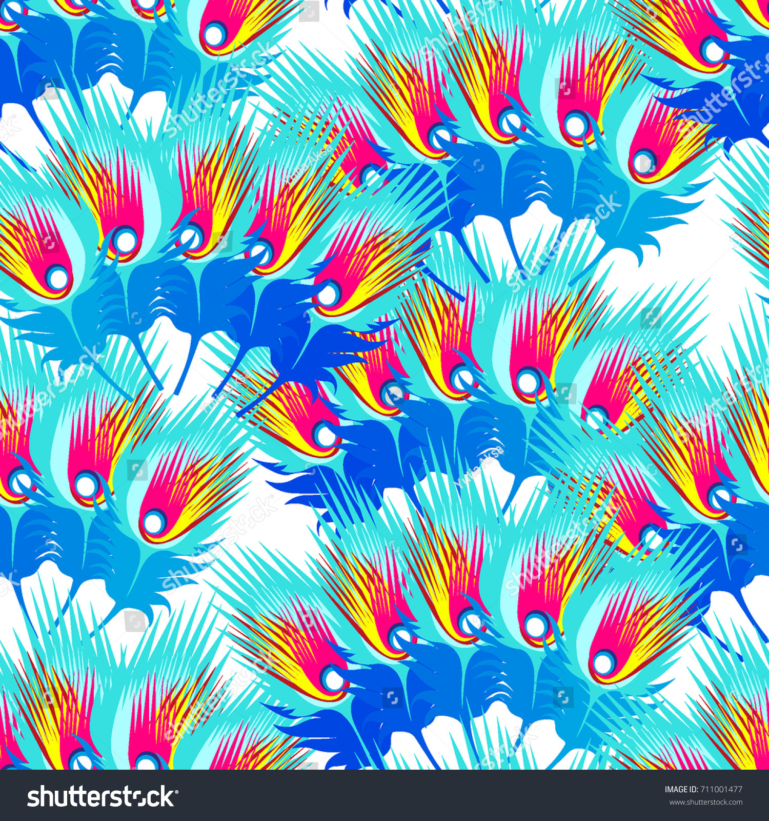 Abstract Wings Pattern Amazing Animal Print Stock Vector 711001477 ...