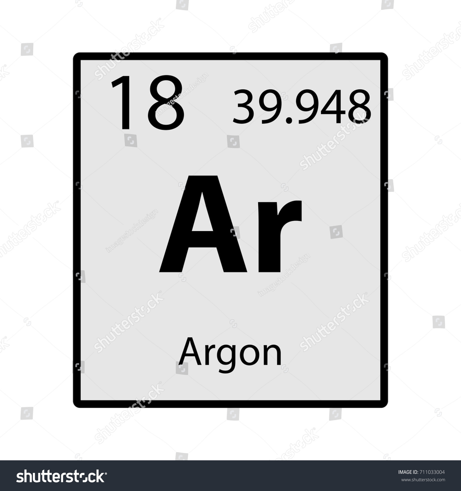 Argon periodic table element gray icon stock vector 711033004 argon periodic table element gray icon on white background vector gamestrikefo Choice Image