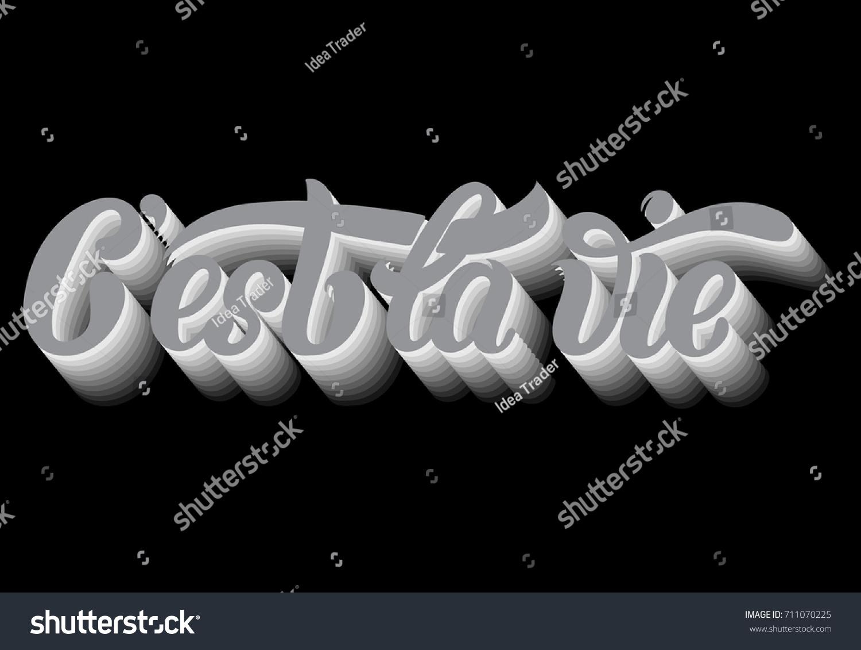 C Stock Quote Cest La Vie Quote Typographical Background Stock Vector 711070225