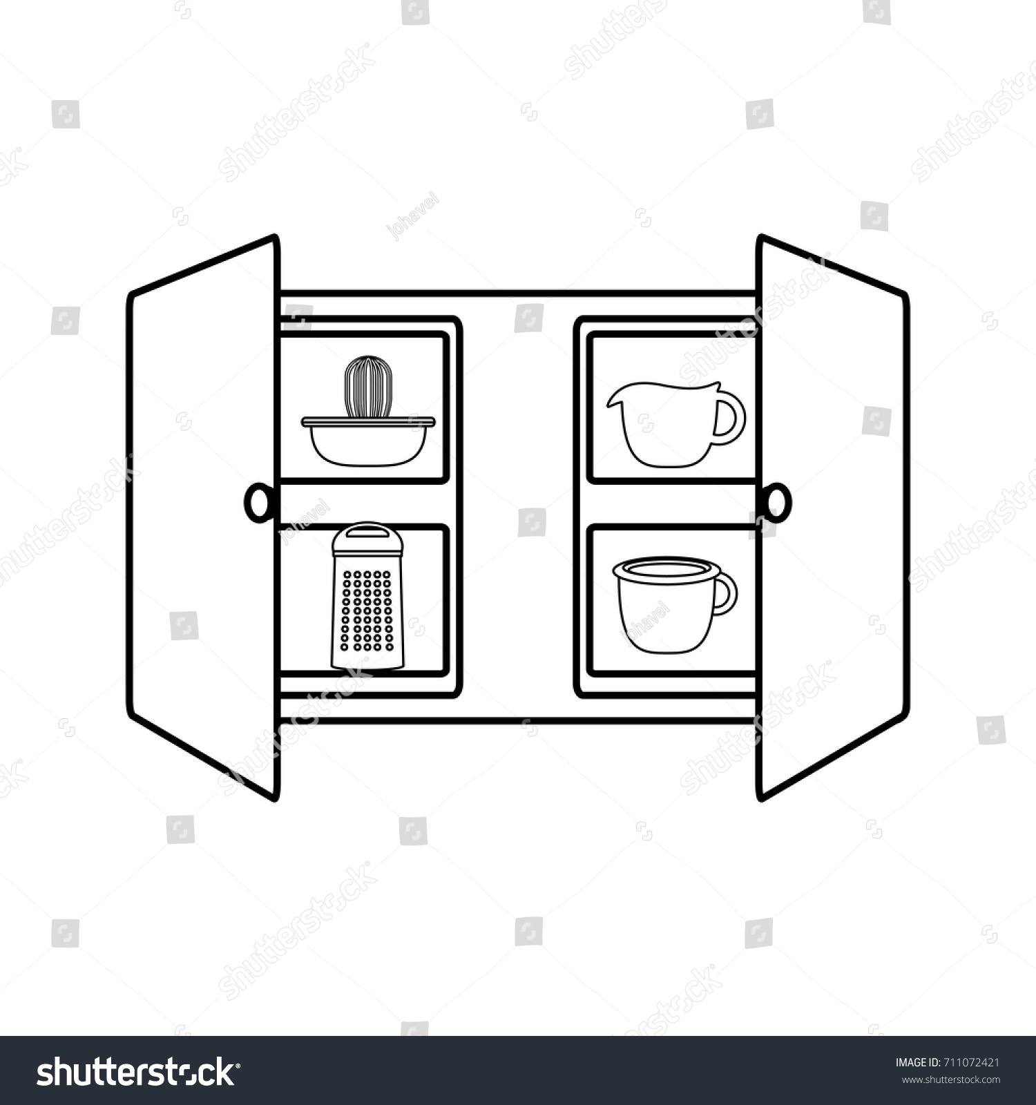 Kitchen Cabinet Icon Stock Vector Royalty Free 711072421
