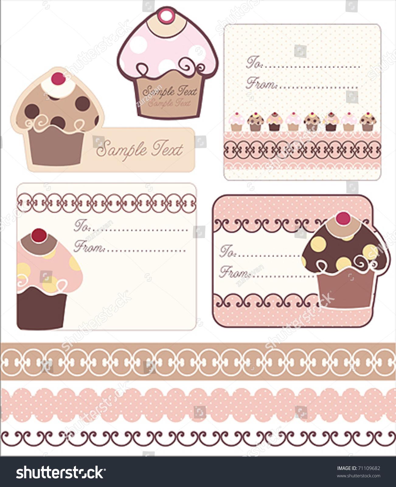 Sweet tag borders designs cupcake stock vector 71109682 shutterstock sweet tag borders designs with cupcake sciox Choice Image