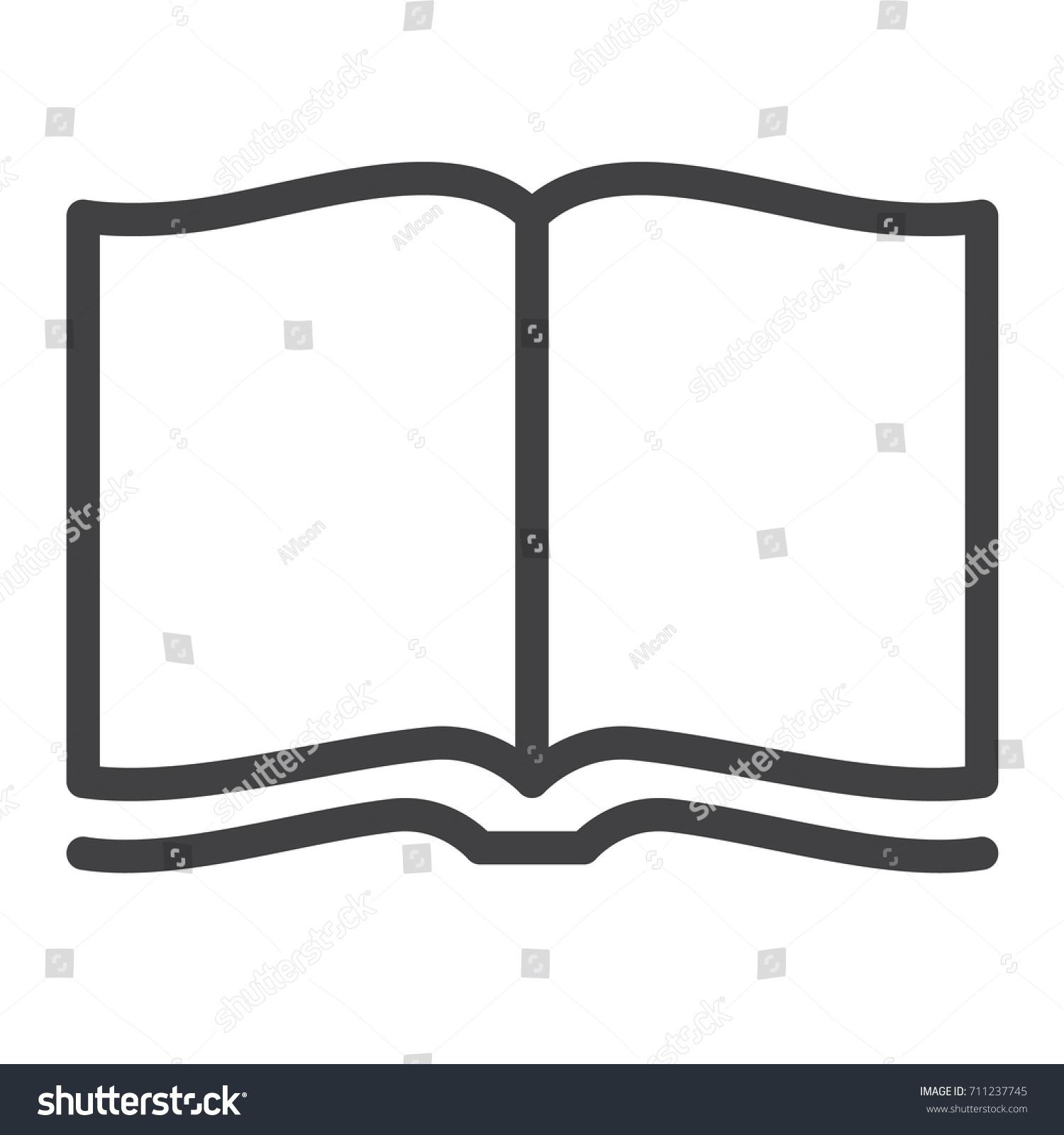 Open Magazine Line Icon Outline Vector Stock Vector ...