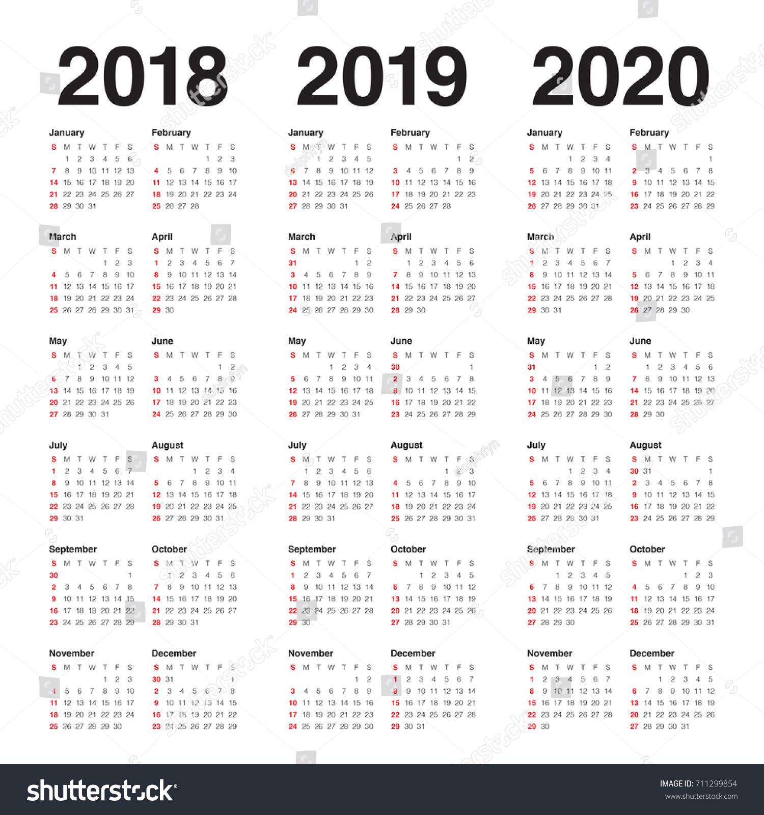 3 year calendar template