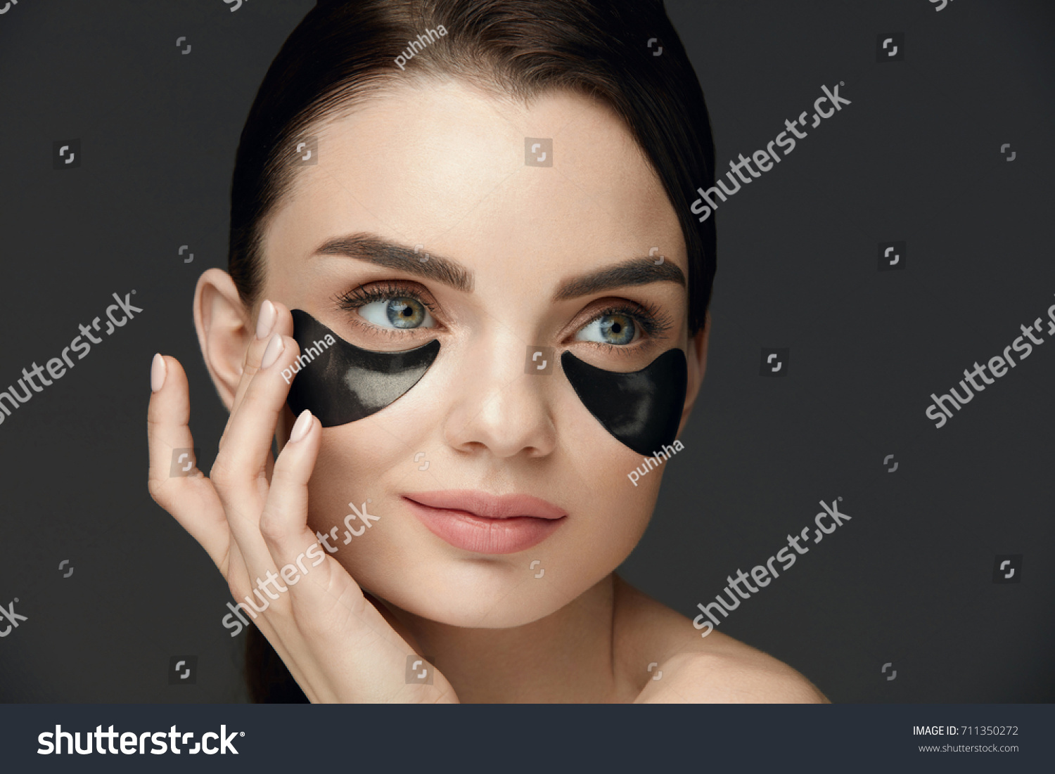 Woman Beauty Face Mask Under Eyes Stock Photo Edit Now 711350272