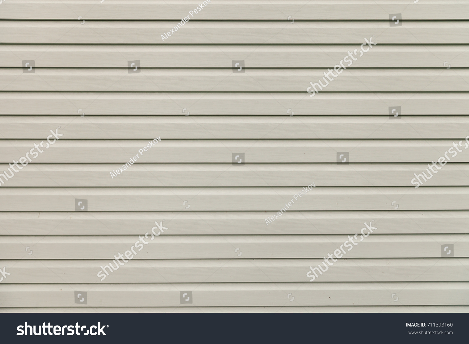 Light Gray White Vinyl Wooden Siding Panel Background With