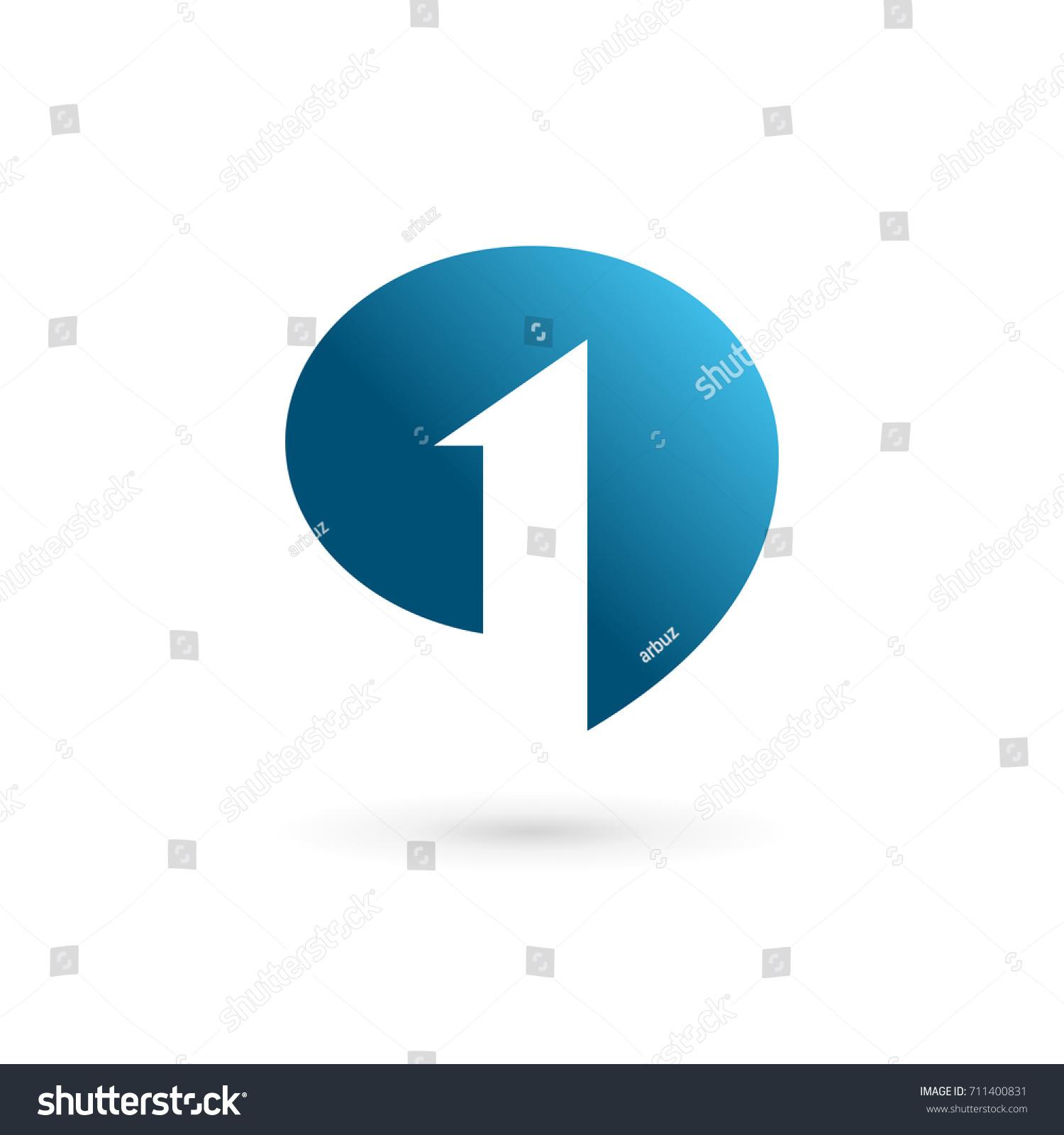 number 1 speech bubble logo iconのイラスト素材 711400831 shutterstock