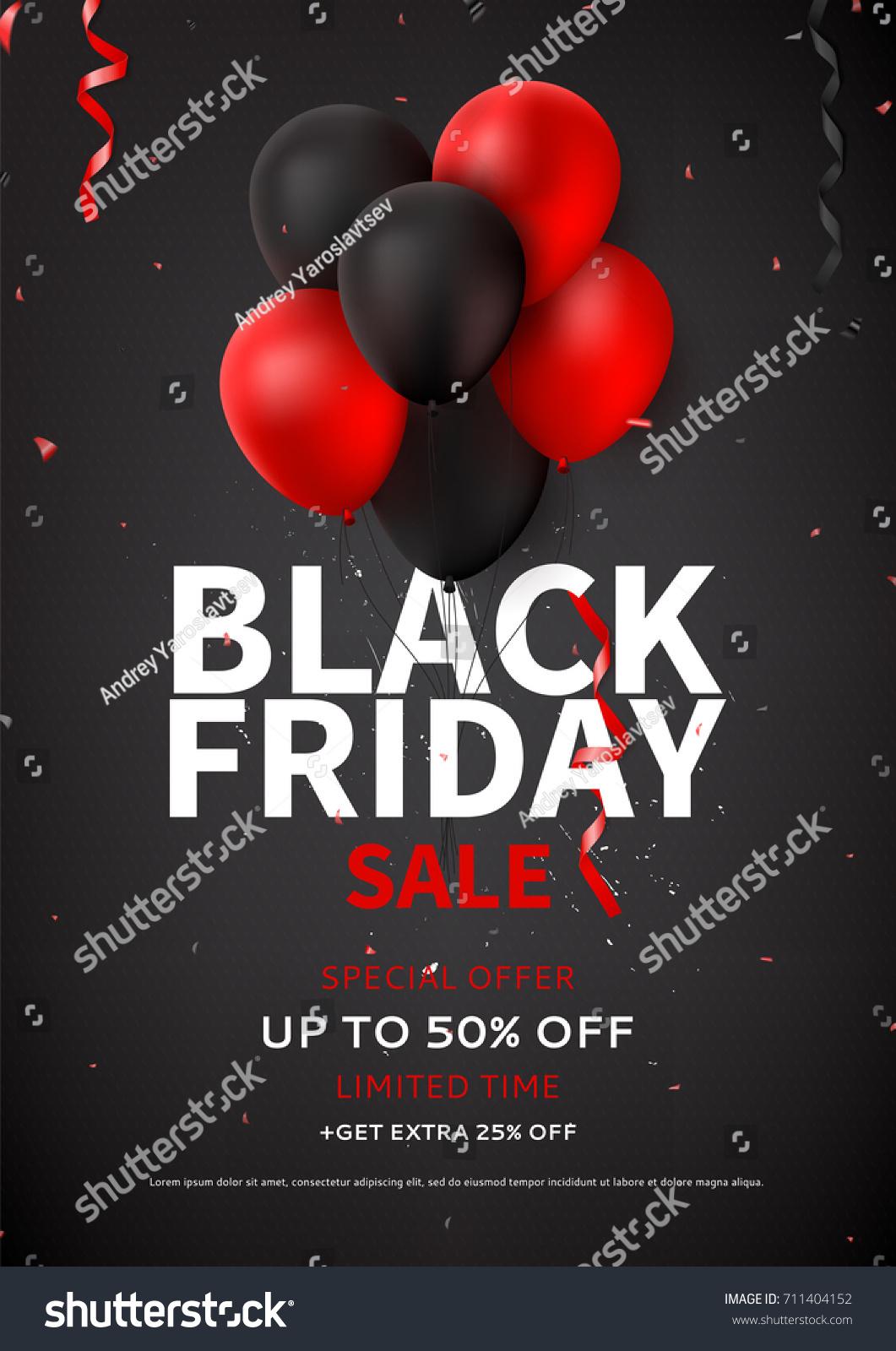 black friday sale flyer template dark stock vector 711404152 shutterstock. Black Bedroom Furniture Sets. Home Design Ideas