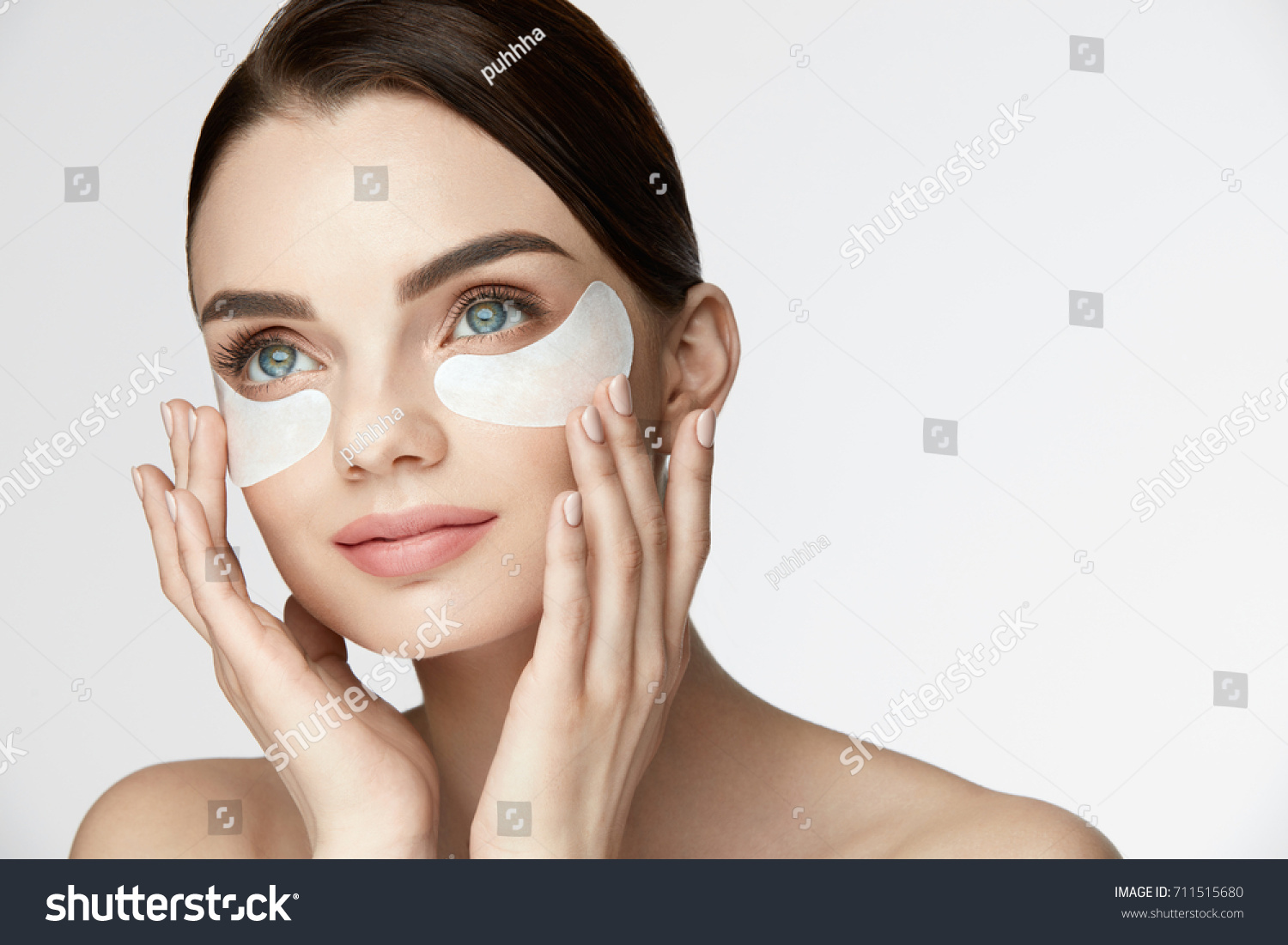 Beauty Face Skin Care Closeup Of Young Woman With Beautiful Big