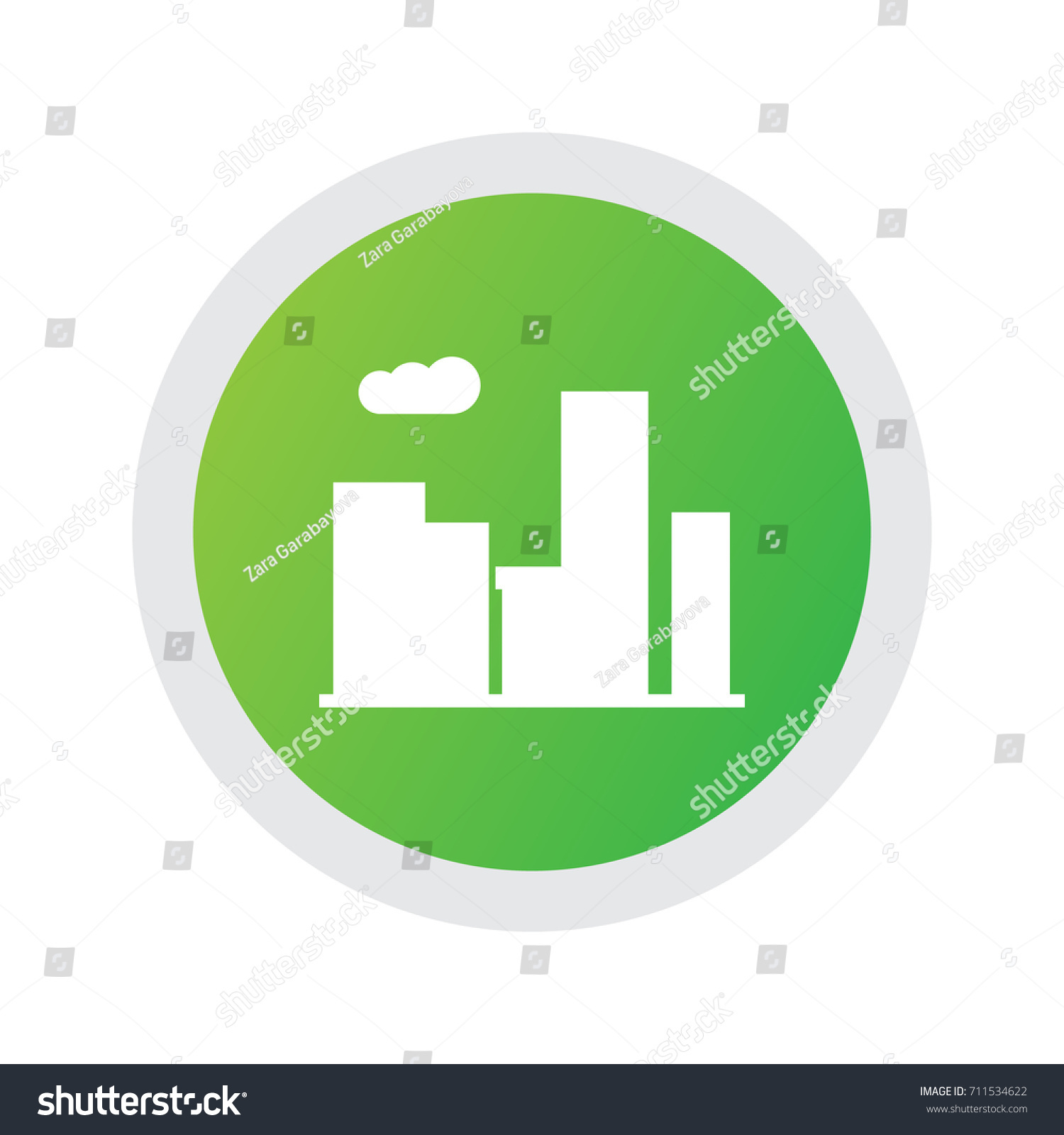 Isolated City Icon Symbol On Clean Stock Vector Royalty Free