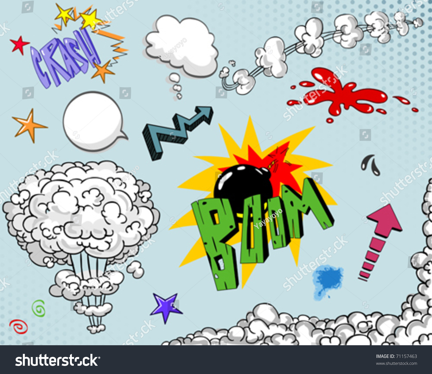 Comic Book Elements Set Number Two Stock Vector 71157463 - Shutterstock