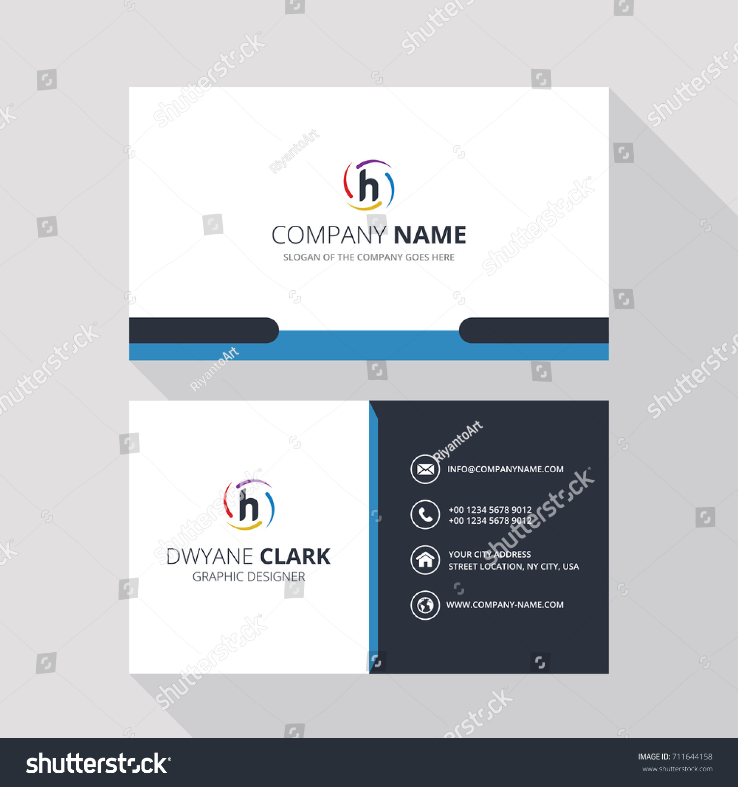 H simple id card logo icon stock vector 711644158 shutterstock h simple id card with logo or icon for your business magicingreecefo Image collections