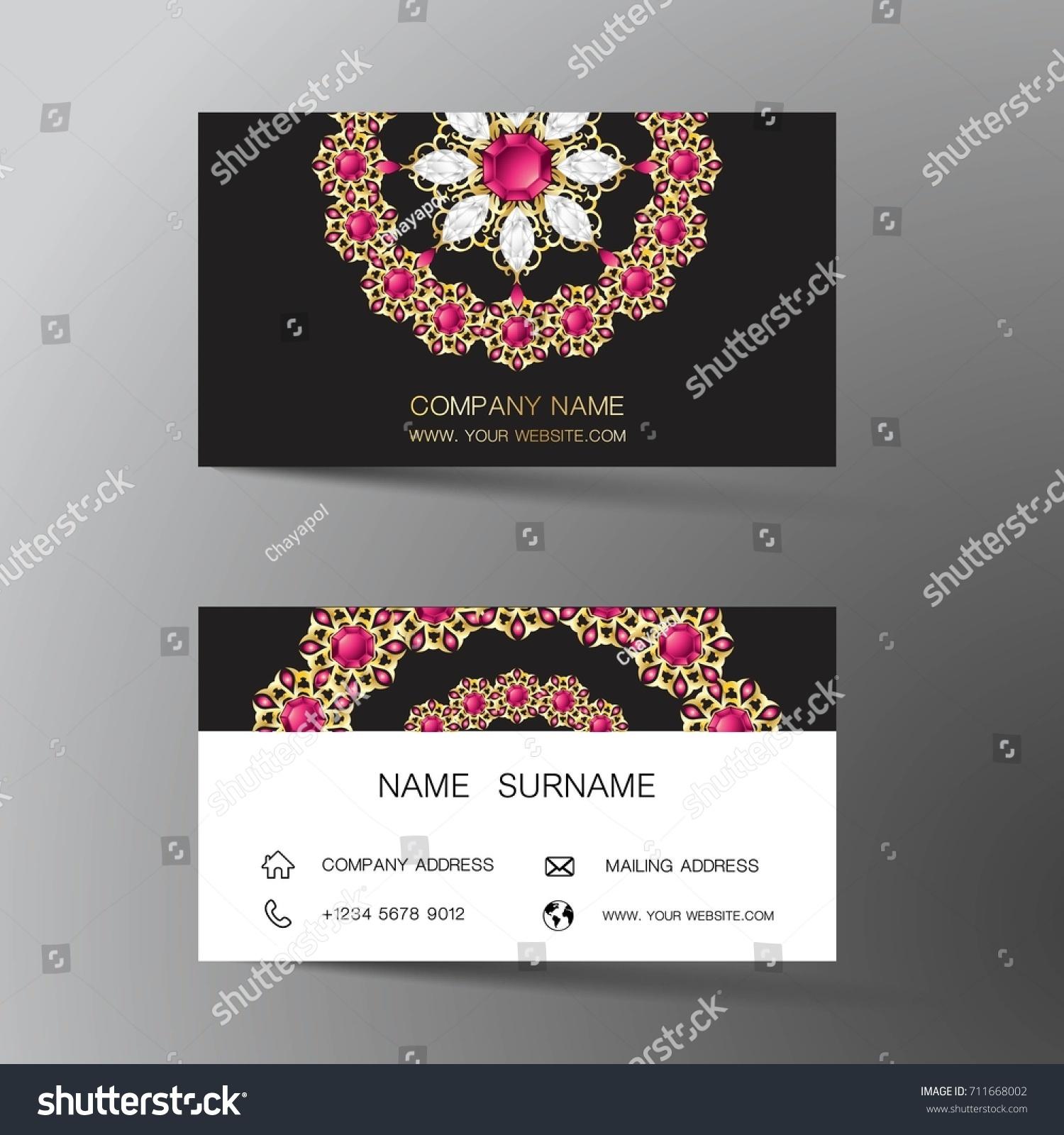 Luxurious indian business card design diamond stock vector luxurious indian business card design diamond gem jewelry colorntact card for company magicingreecefo Choice Image