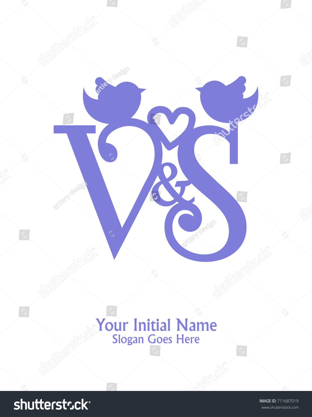 Initial Name V S Logo Template Stock Vector Royalty Free 711687019