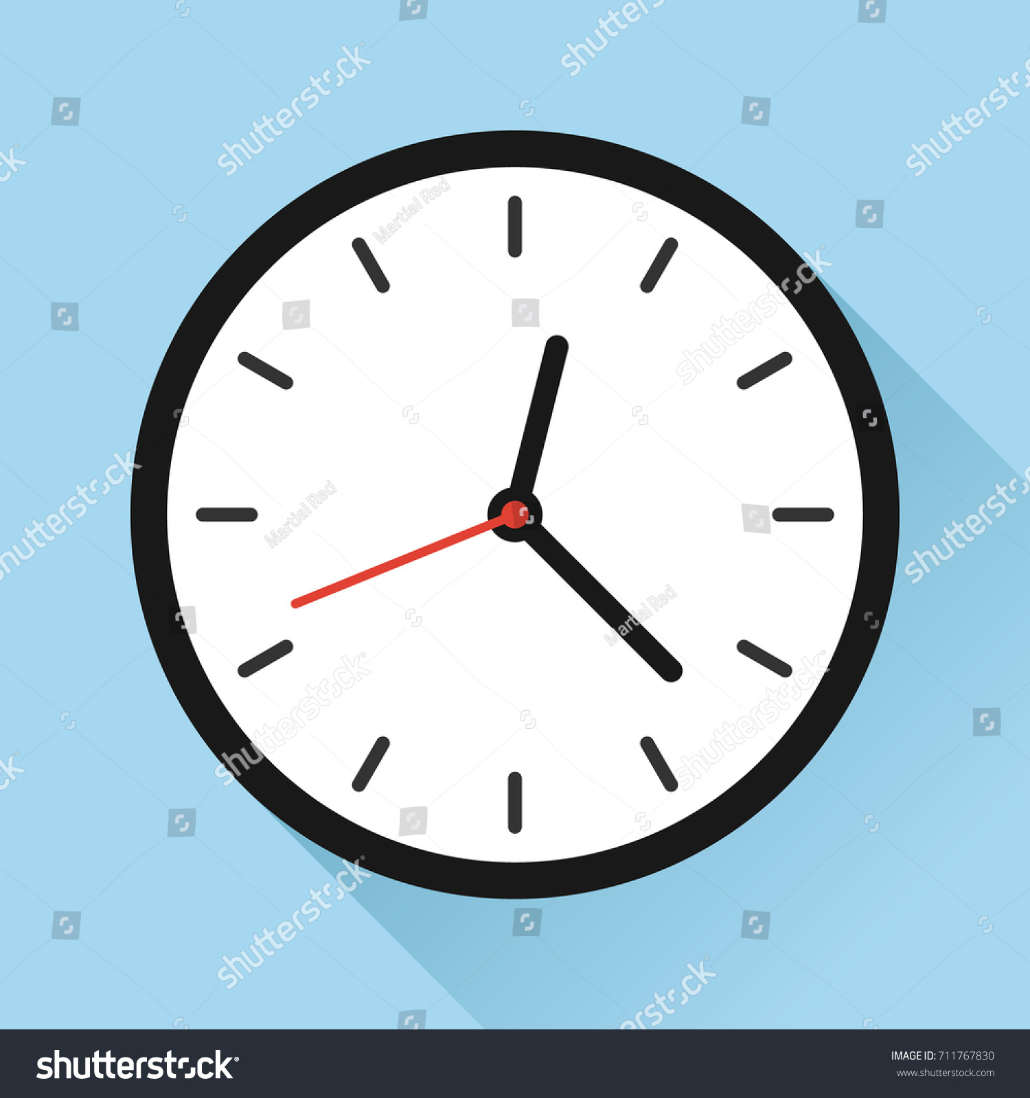 wall clock appointment schedule time flat のベクター画像素材