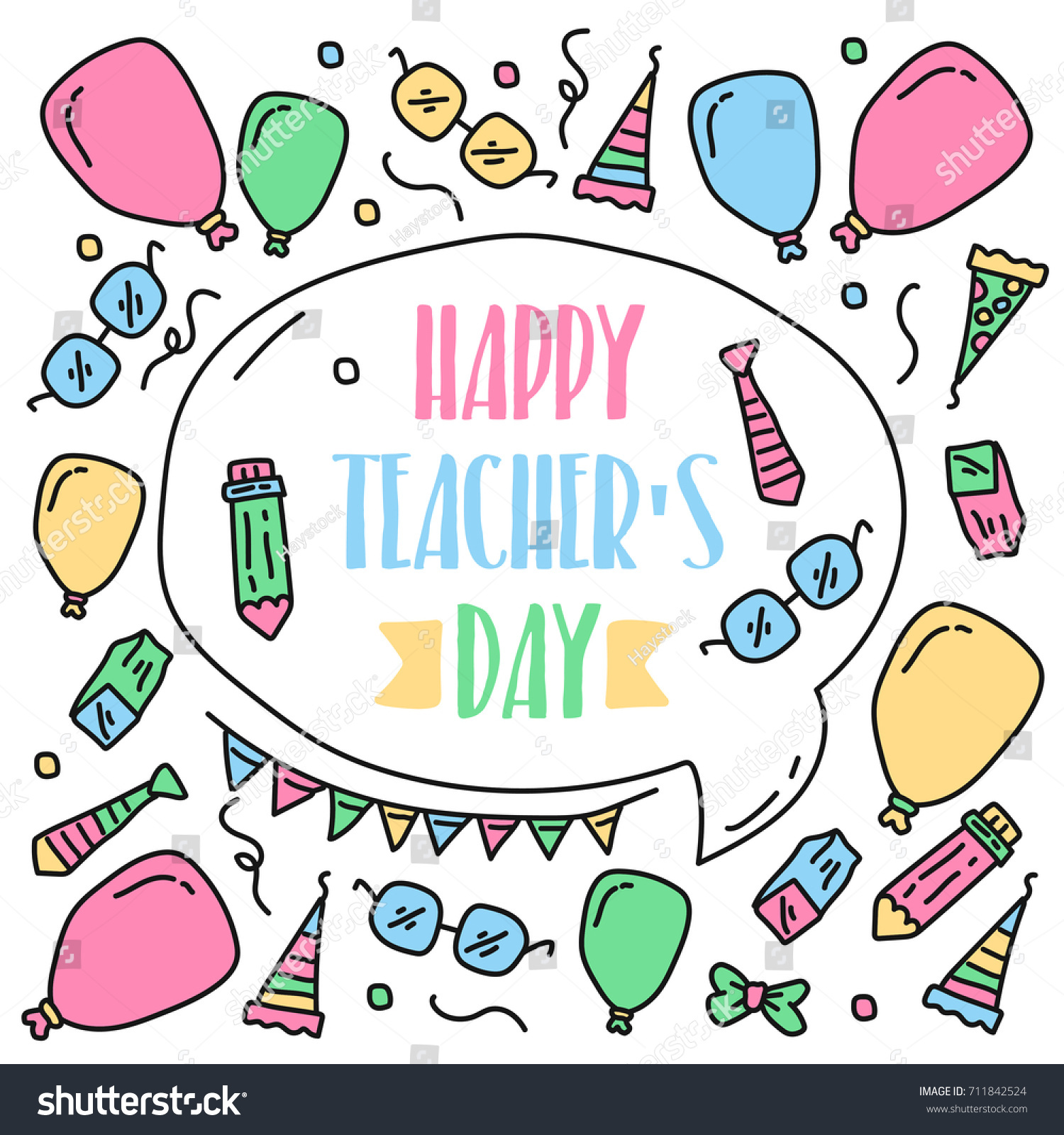 Teachers day greeting card illustration vector stock vector teachers day greeting card illustration vector art great design element for congratulation cards kristyandbryce Image collections
