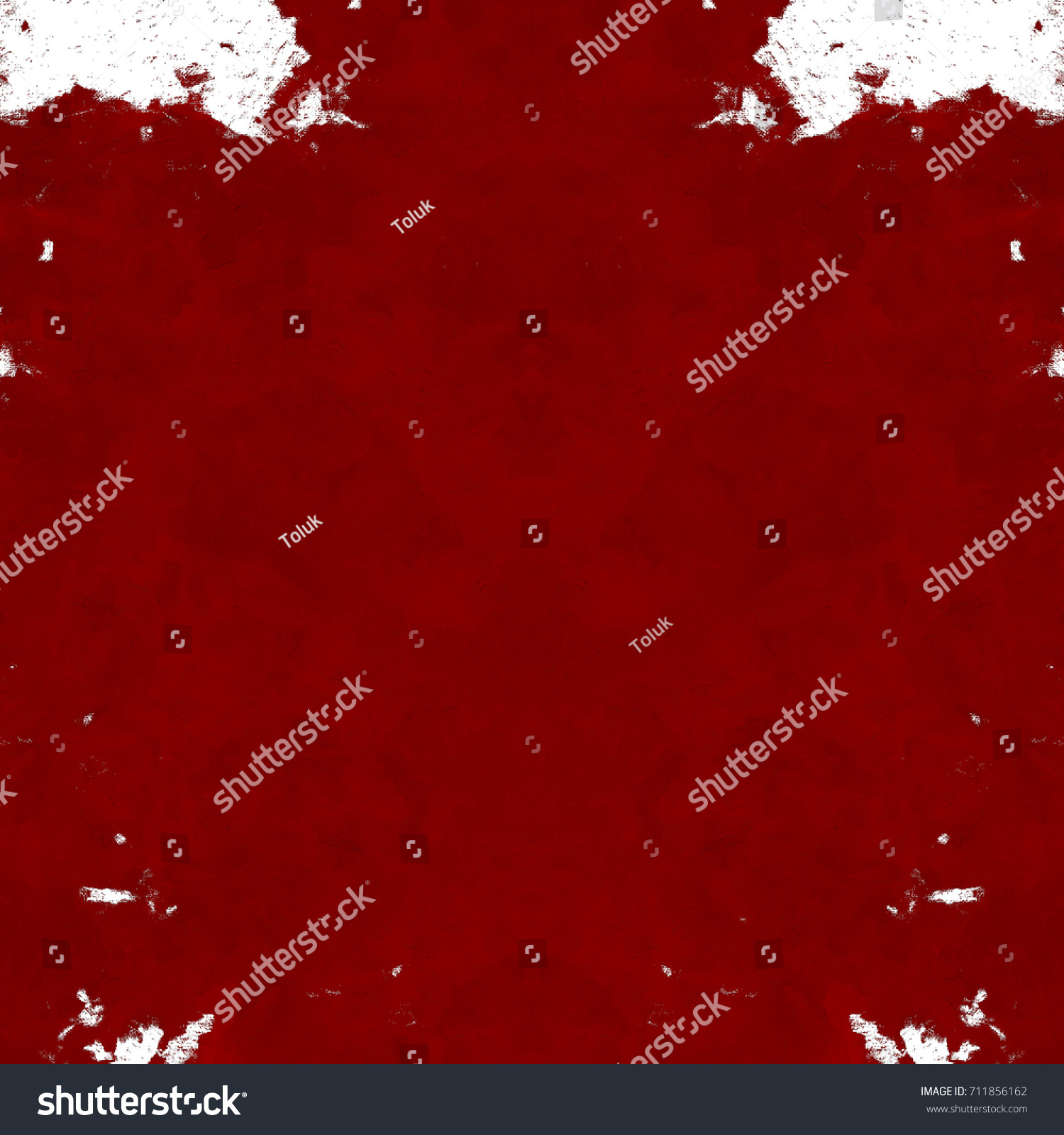 Red Black White Aged Grunge Wall Background Old Weathered Peeled Painted Plaster