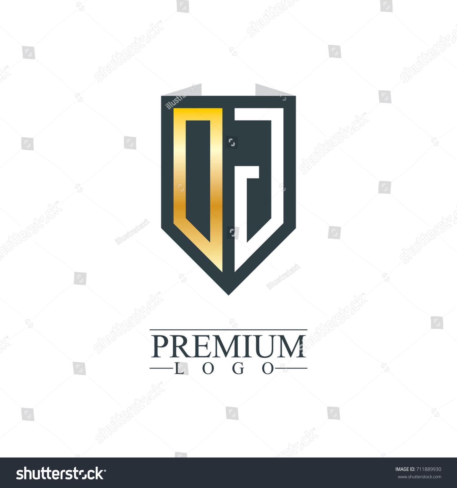 Initial Letter DJ Company Design Logo Stock Vector 711889930 ...