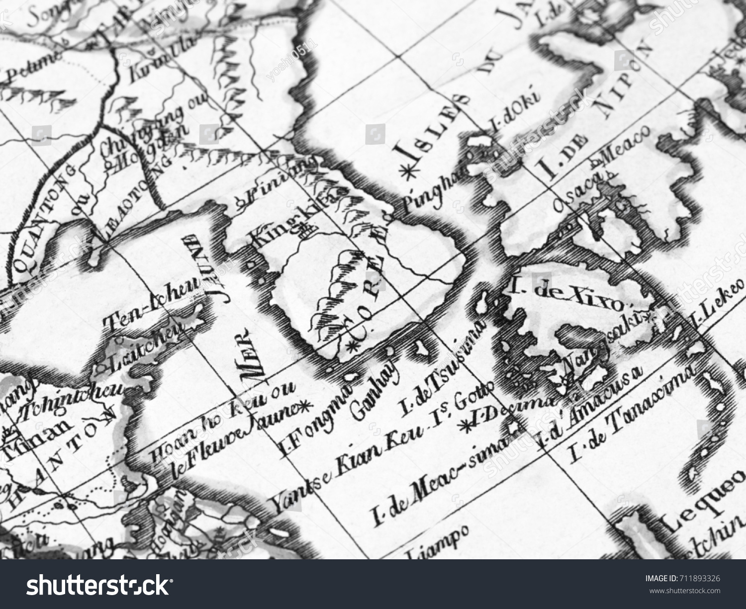 old map korean peninsula stock photo edit now 711893326 shutterstock Capes and Peninsula's of Europe old map korean peninsula