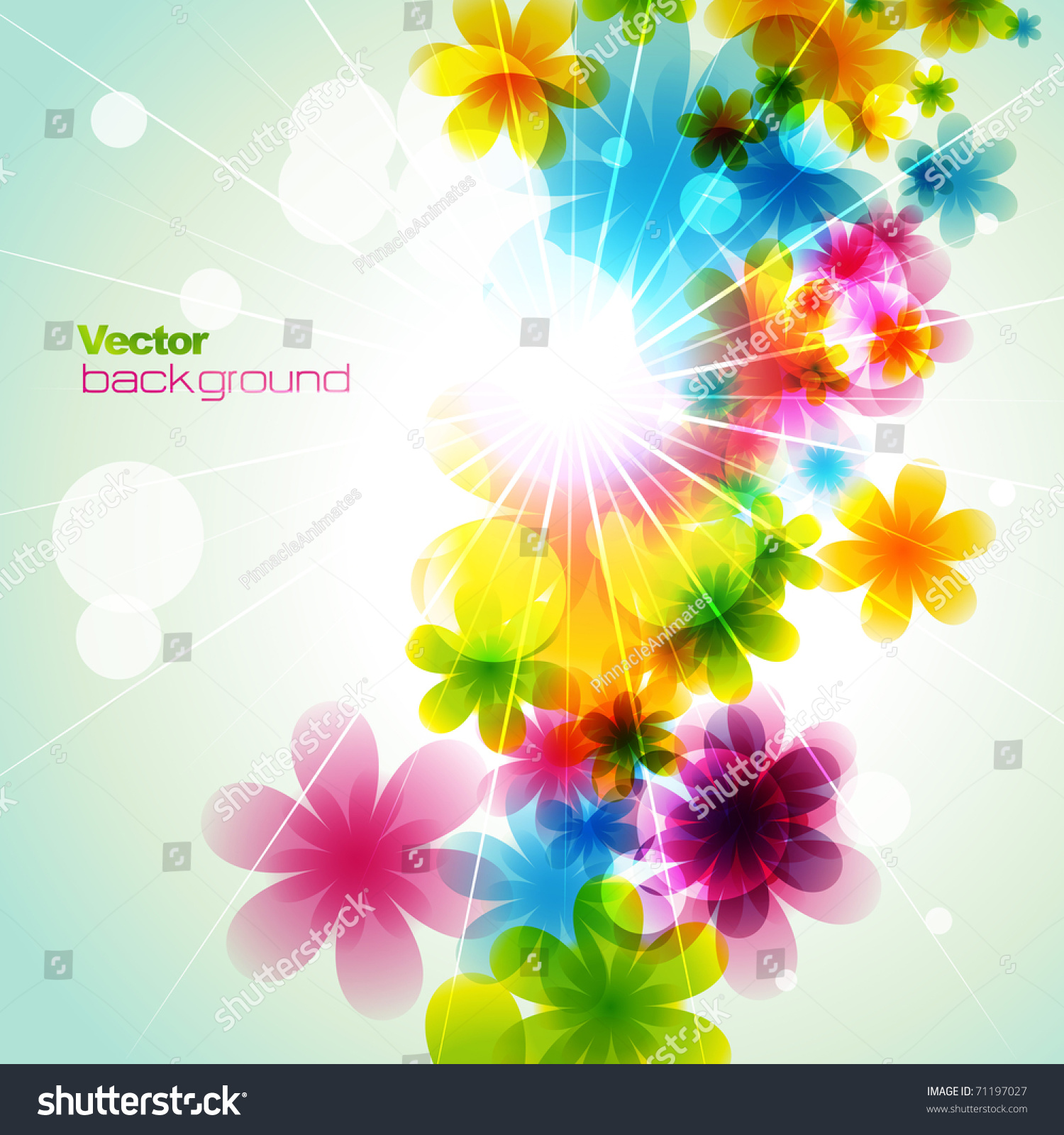 Vector Beautiful Flower Background Art Stock Vector Royalty Free