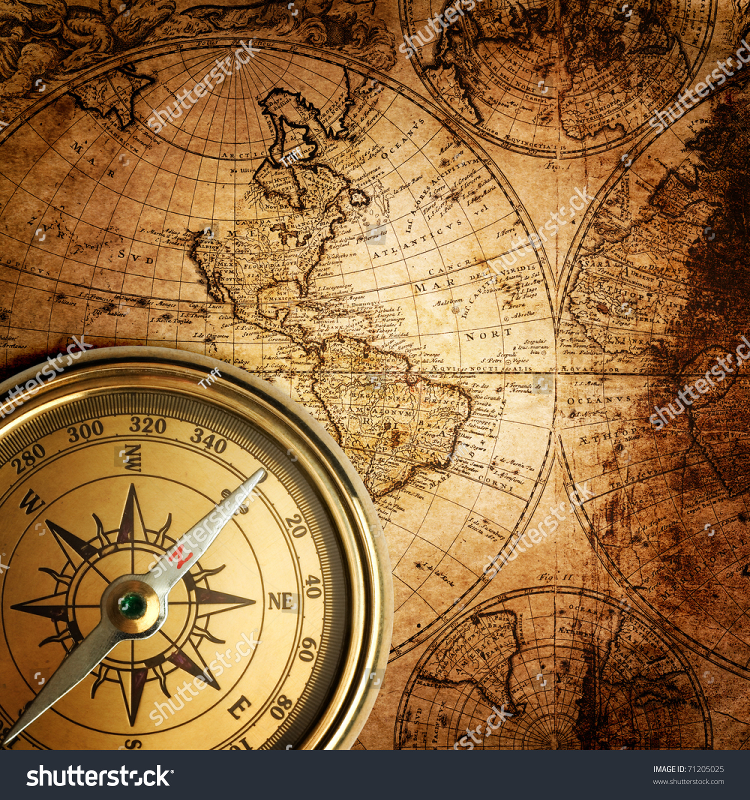 Old World Compass Wallpaper – Daily Motivational Quotes