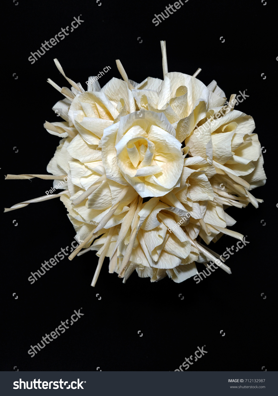 Bunch Paper Flowers Dok Mai Chan Stock Photo Edit Now Shutterstock