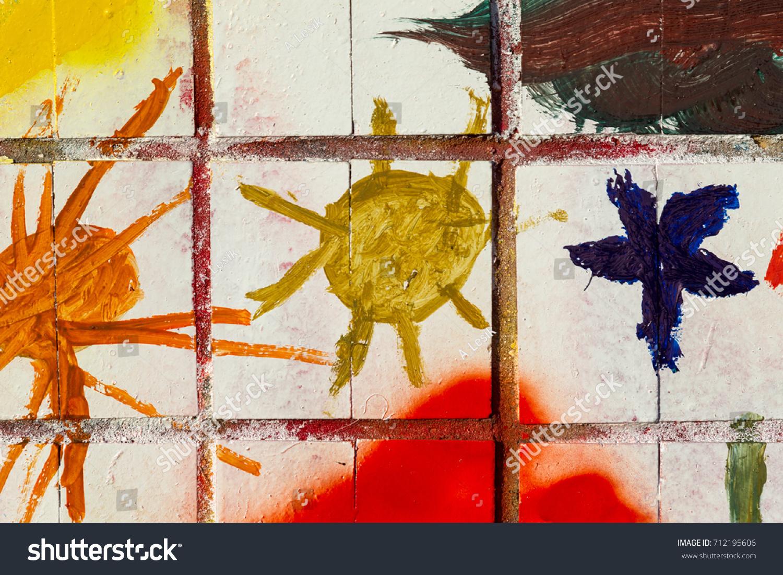 Beautiful Street Art Graffiti Abstract Color Stock Photo (Royalty ...