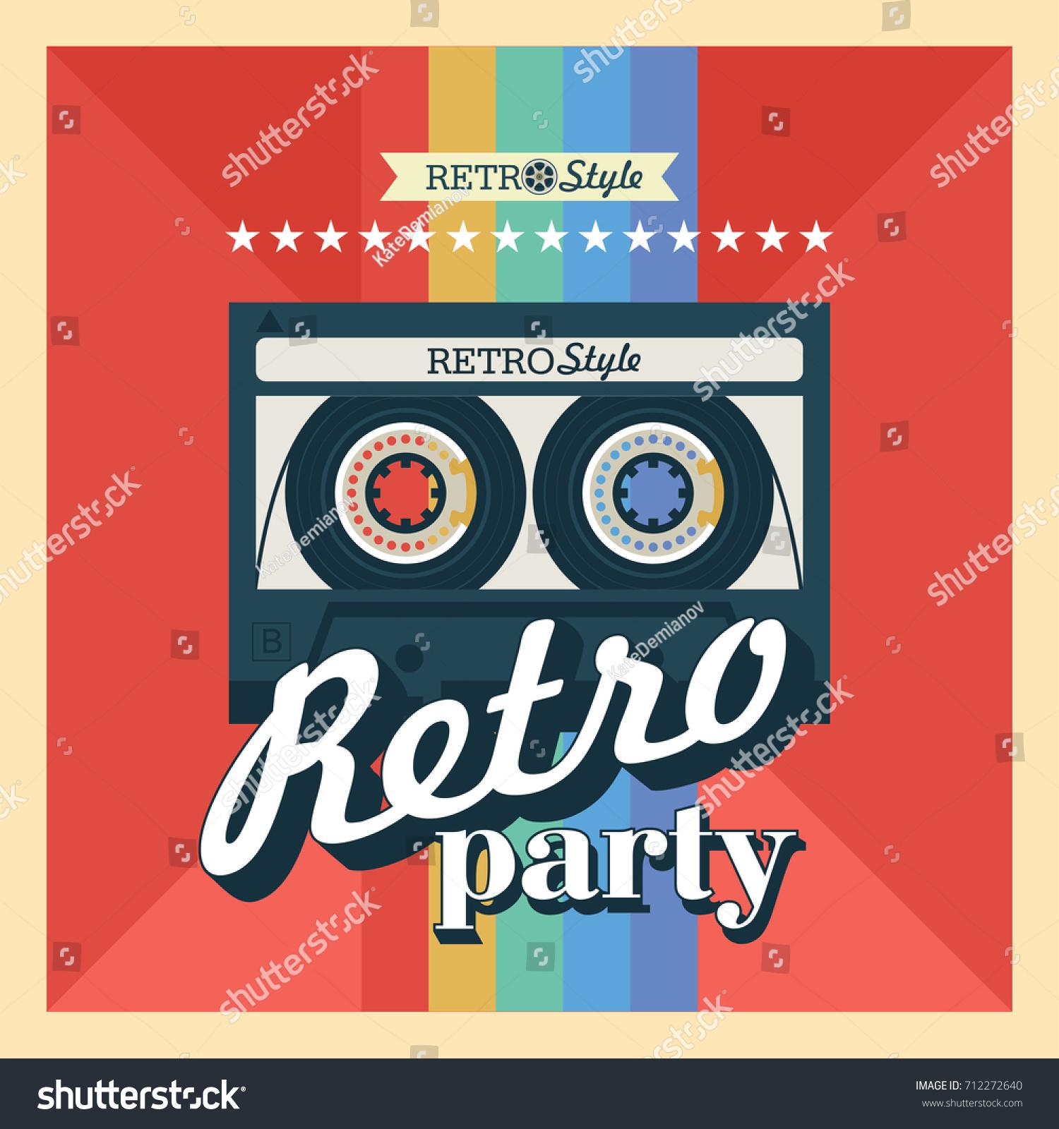 Cassette Tape Vector Illustration Logo Retro Vector de ...