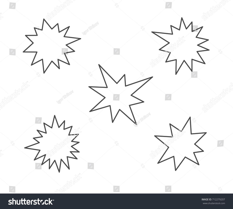 Splash stars outline icon set stock vector 712279207 shutterstock splash stars outline icon set sciox Images