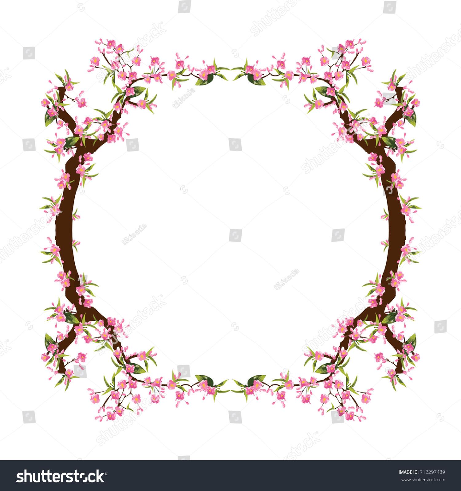 Full Bloom Sakura Flower Tree Isolated Stock Vector ...