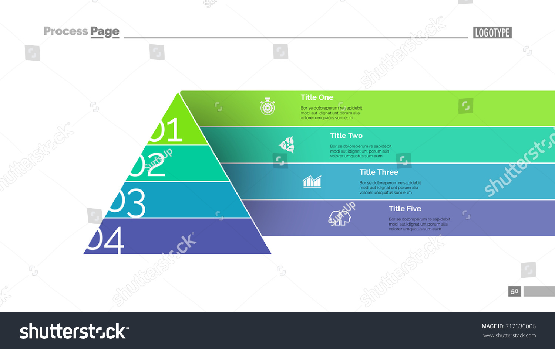 Pyramid Chart Slide Template Stock Vector Royalty Free 712330006 Diagram