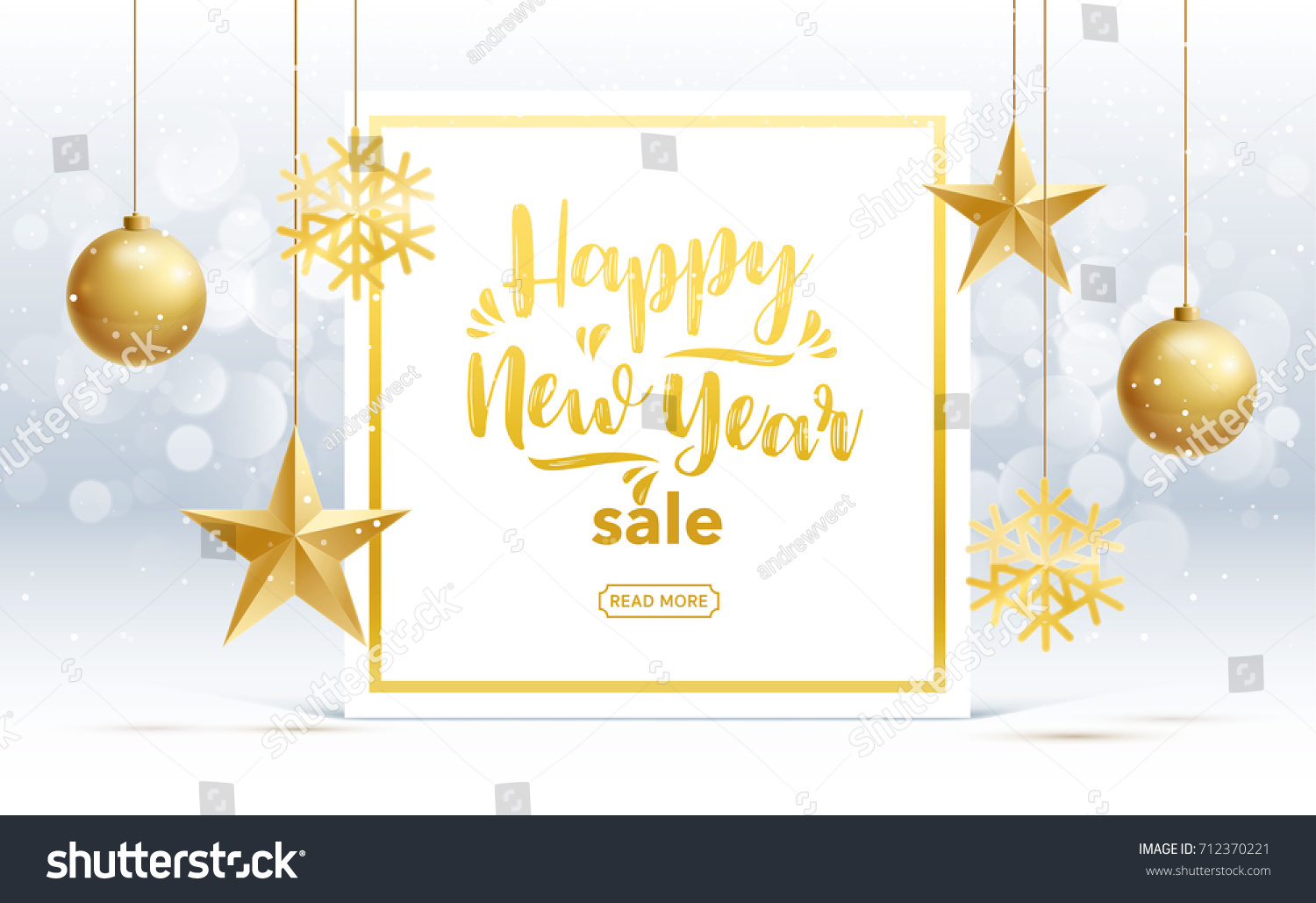 Vector Happy New Year 2018 Sale Stock Vector 712370221 - Shutterstock