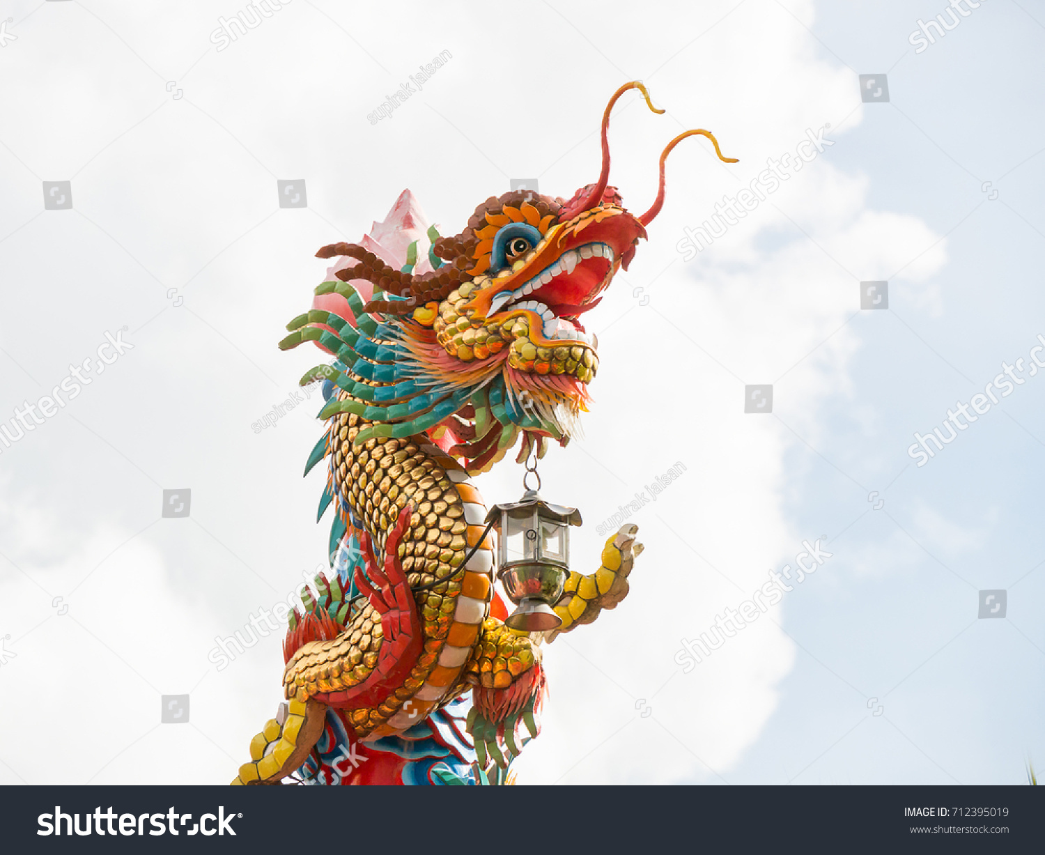 chinese new year dragon decoration on stock photo edit now