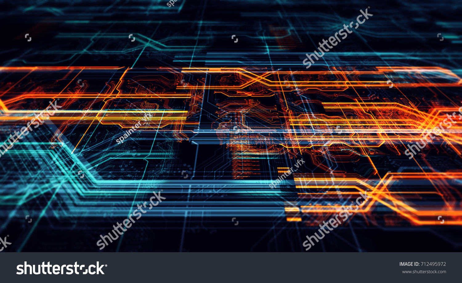 Abstract Technological Background Made Different Element Stock Pcb The Printedcircuitboard 3d Royalty Free Photography Of Printed Circuit Board Depth Field Effect And
