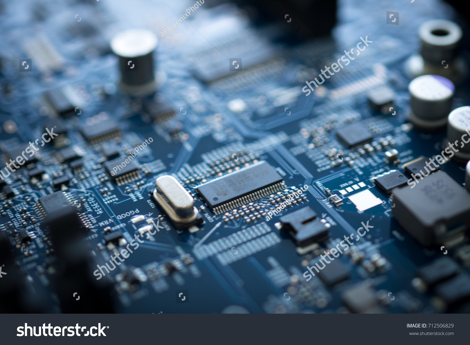 Electronic Circuit Board Of Computer Motherboard Design Companys It Id 712506829
