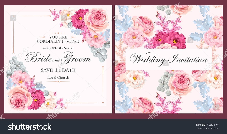Vintage Wedding Invitation Stock Vector 712526704 - Shutterstock