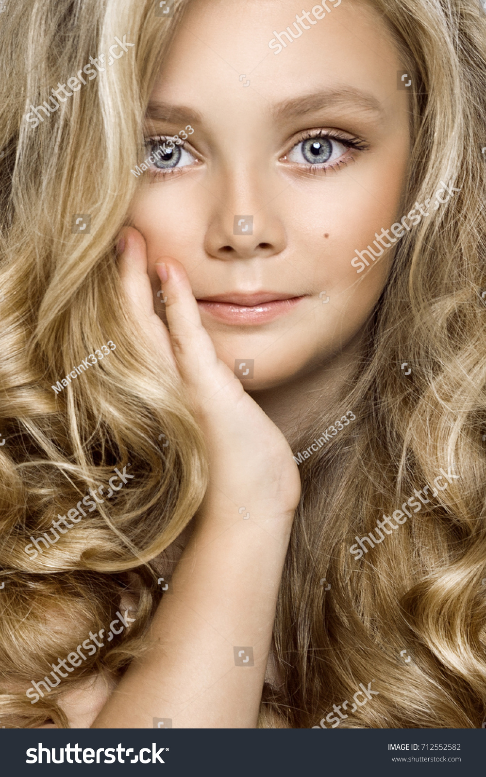 beautiful young blonde model cute girl stock photo (edit now