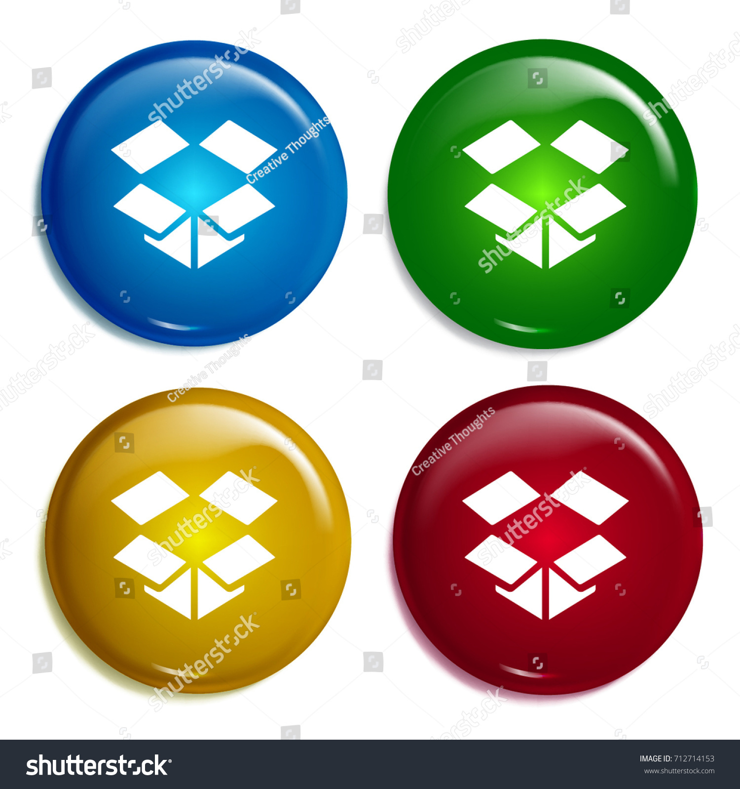Dropbox multi color gradient glossy badge stock vector 712714153 dropbox multi color gradient glossy badge icon set realistic shiny badge icon or logo mockup biocorpaavc Gallery
