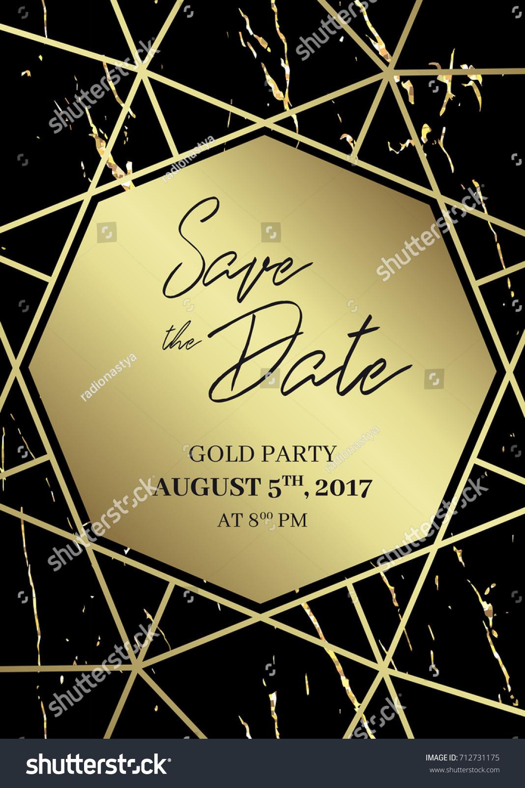 save date design template formal invite のベクター画像素材