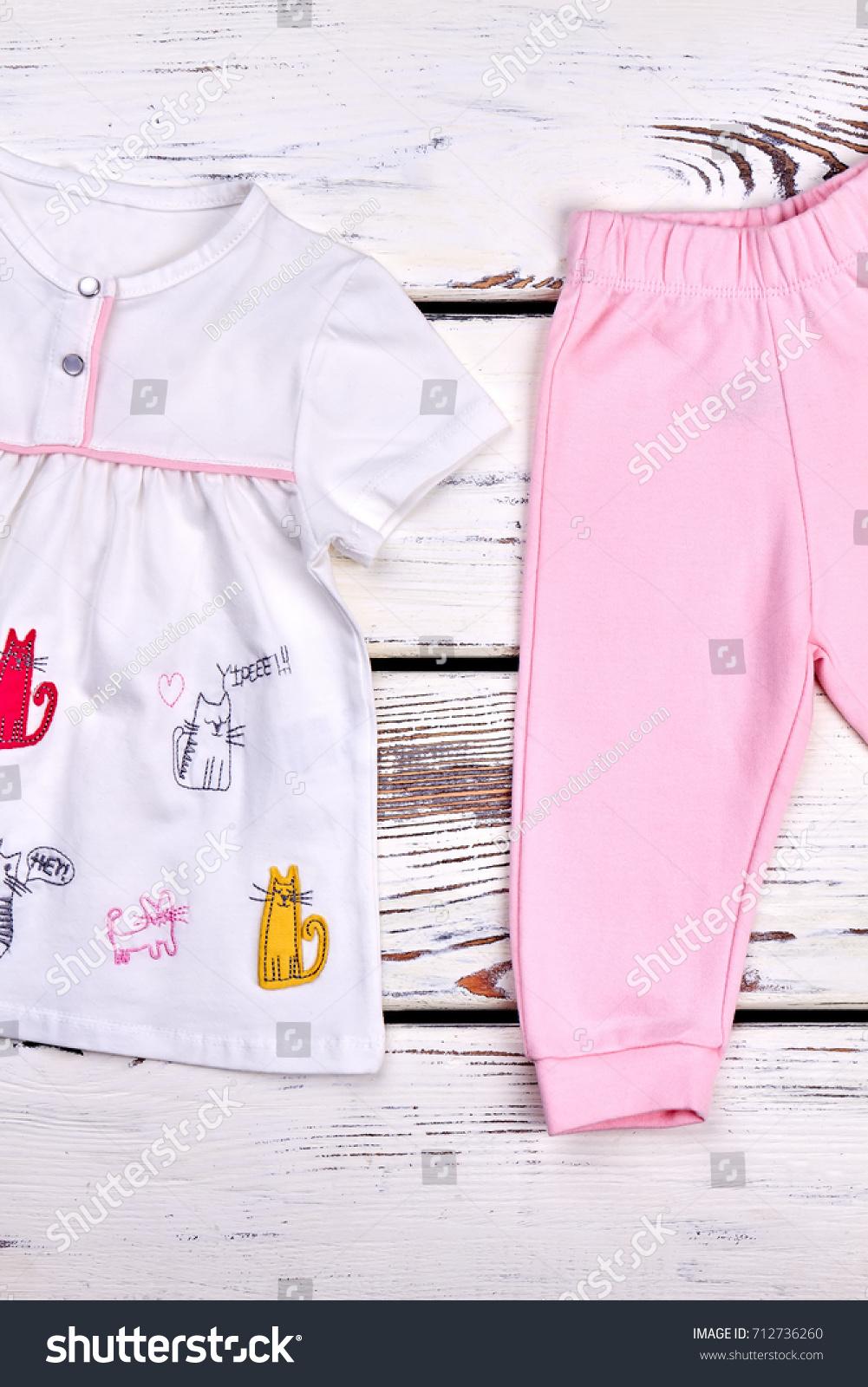 f753f8e44 Kids Fashion Design Top Pants Little Stock Photo (Edit Now ...