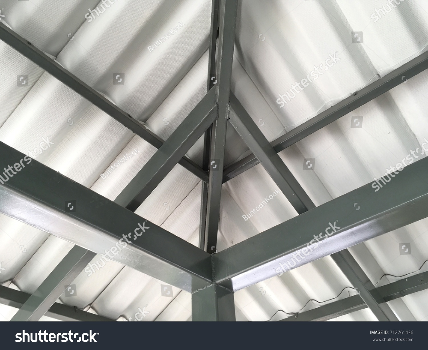 Roof Hip Structure Ridge Steel Structure Stock Photo Edit Now