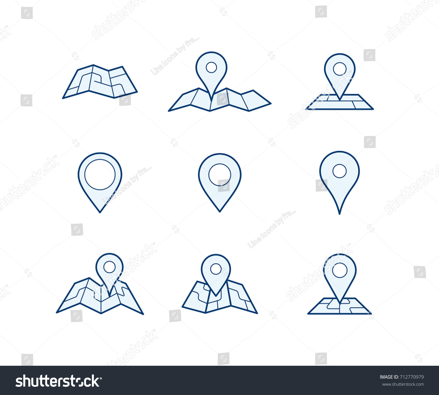 geo pins maps your own custom stock vector royalty free 712770979