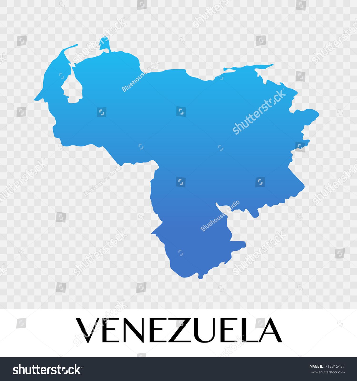 Venezuela Map South America Continent Illustration Stock Vector - Map of venezuela south america