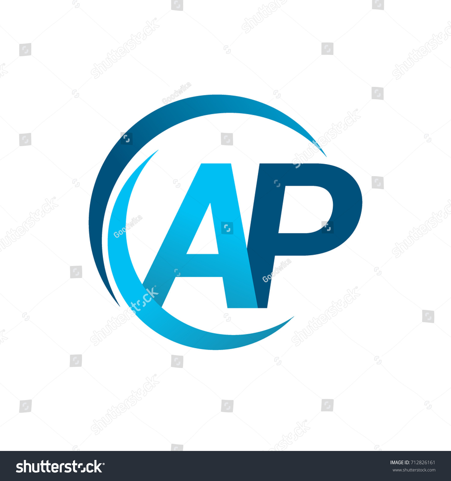 Initial Letter Ap Logotype Company Name Stock Vector ...