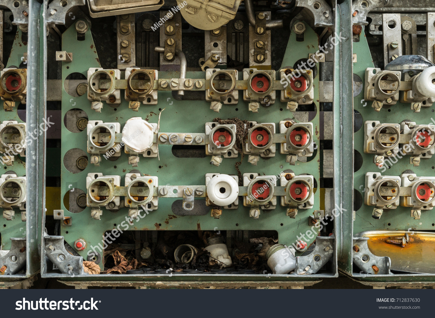 Old Fuse Box Cables Connectors Stock Photo Edit Now 712837630 Help An With And