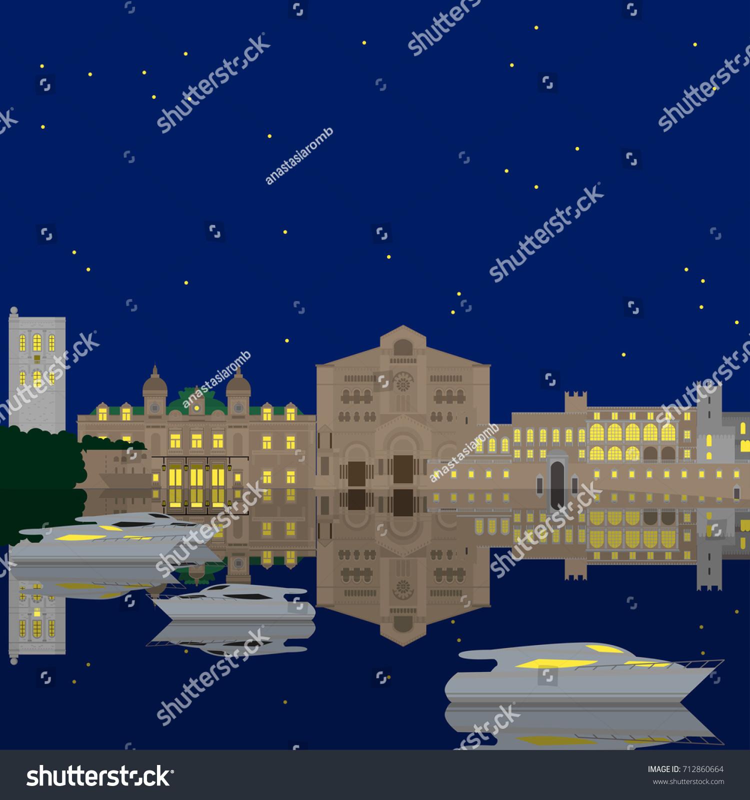 Flat Building Monaco Country Travel Icon Stock Vector - Is monaco a country